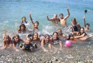 Сборы юных пловцов